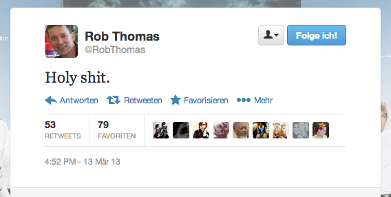 Tweet von Rob Thomas #veronicamarsmovie